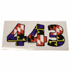 """443"" Baltimore Purple & Orange Maryland Flag / Sticker - Route One Apparel"