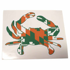 Irish Maryland Flag Crab / Sticker