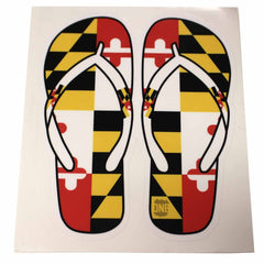 Maryland Flag Flip Flop / Sticker