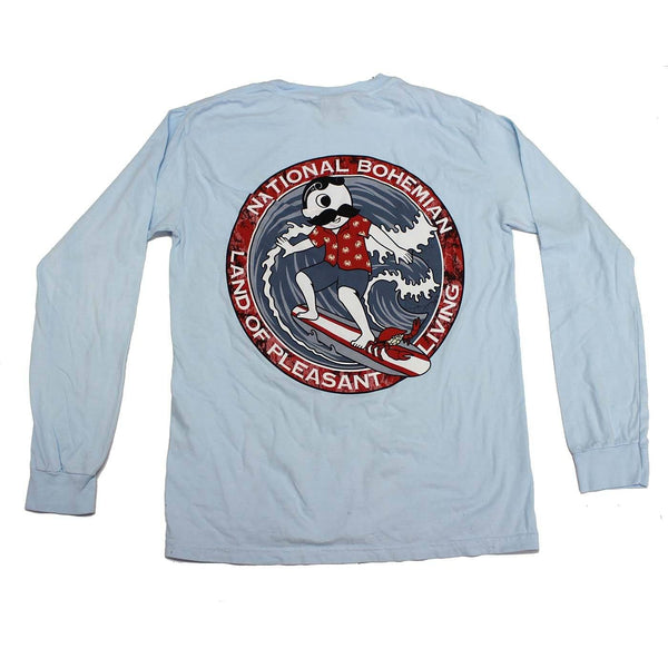 Retro Boh Wave Surfing (Chambray) / Long Sleeve Shirt