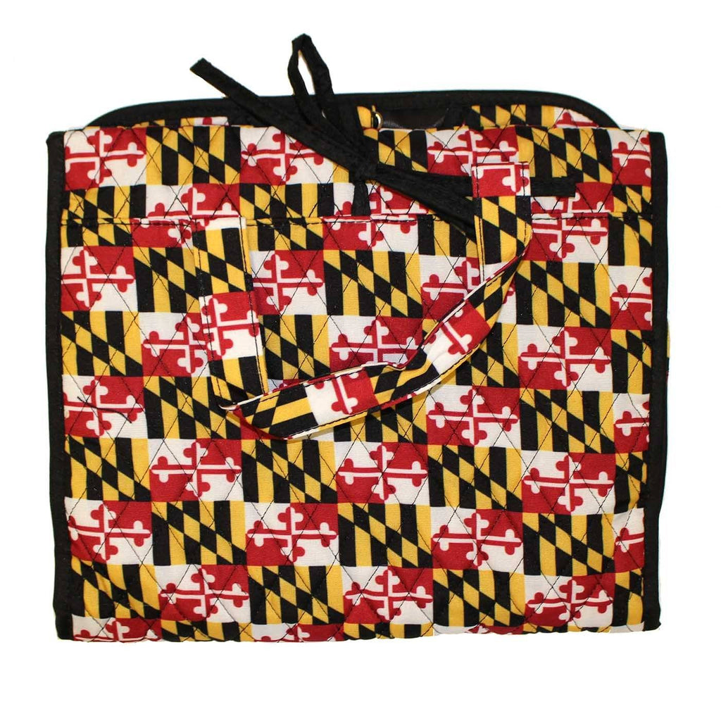 Quilted Maryland Flag / Hanging Travel Bag