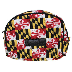 Quilted Maryland Flag / Cosmetic Bag