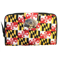 Quilted Maryland Flag / Turn Lock Wallet