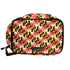 Quilted Maryland Flag / Blush & Brush Cosmetic Bag