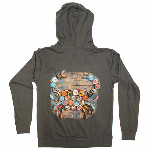 Natty Boh Bottle Cap (Heavy Metal) / Terry Hoodie