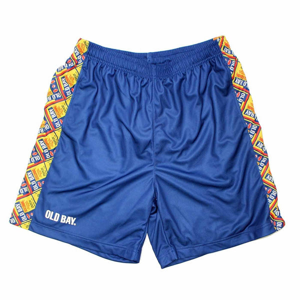Old Bay Can Pattern Sides (Royal) / Running Shorts (Men) (*PRE-ORDER* Estimated Ship Date 12/20)