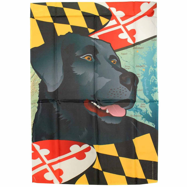 Maryland Black Lab / House Flag