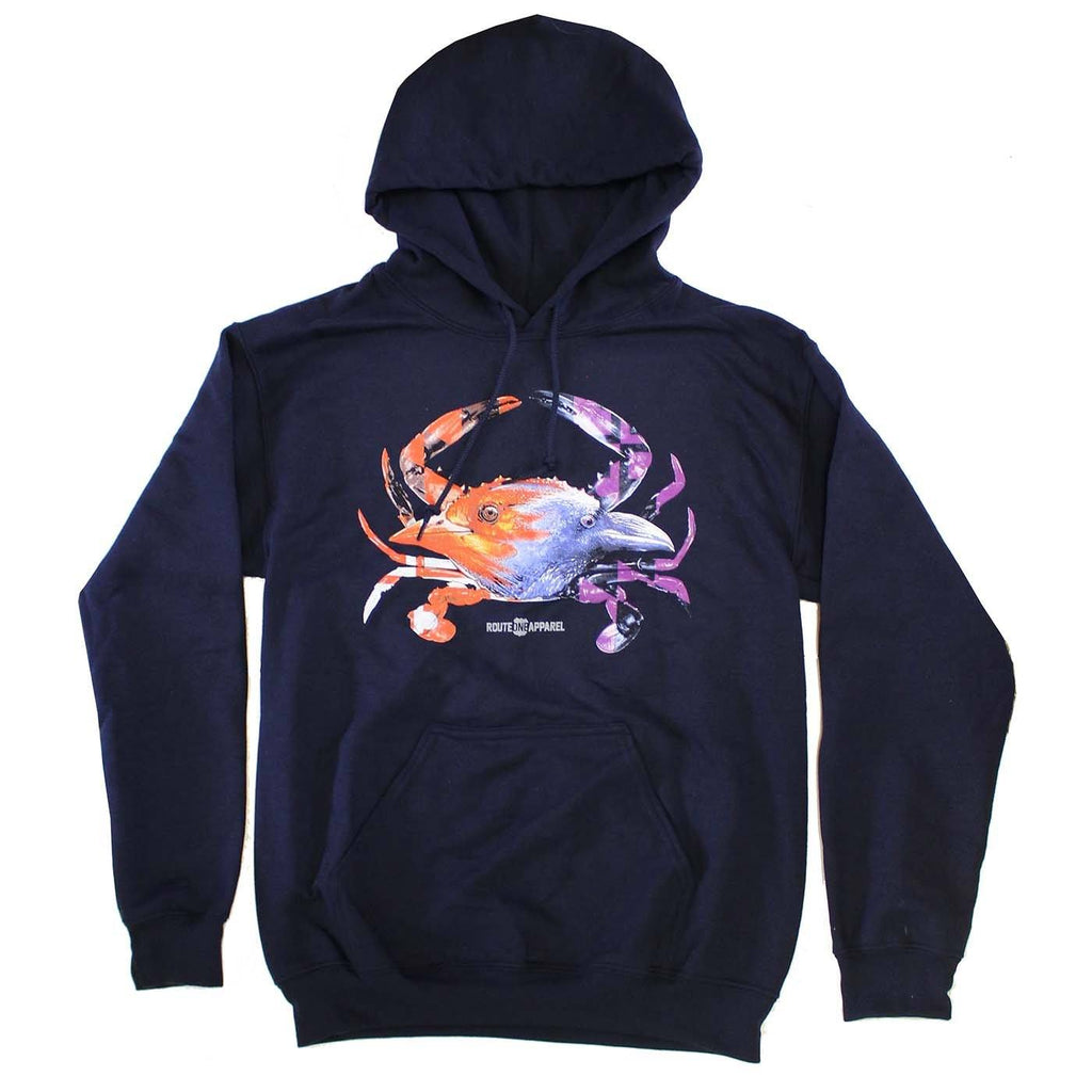 Baltimore Birds Crab (Navy) / Hoodie - Route One Apparel