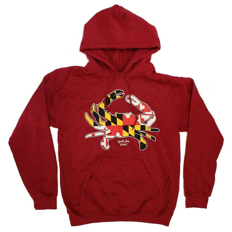 Maryland Full Flag Crab (Cardinal) / Hoodie