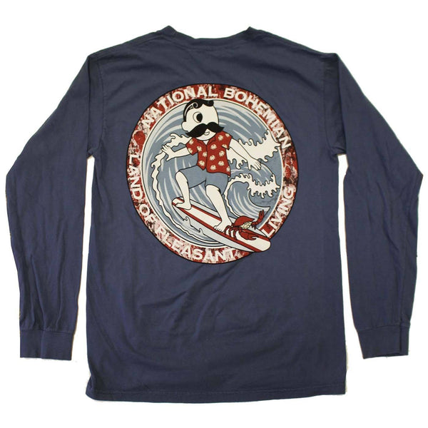 Retro Boh Wave Surfing (Midnight) / Long Sleeve Shirt