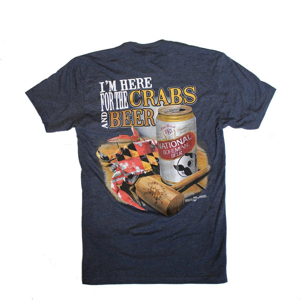 I'm Here for the Crabs & Beer (Midnight Navy) / Shirt