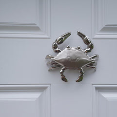 Blue Crab  (Nickel Silver) / Door Knocker - Route One Apparel