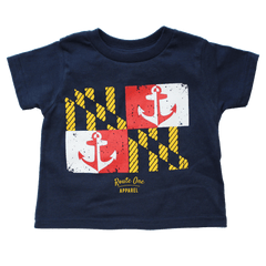 Maryland Nautical Flag (Navy) / *Toddler* Shirt