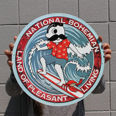 Retro Boh Wave Surfing / Aluminum Sign