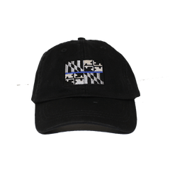 Maryland Flag Blue Line (Black) / Baseball Hat