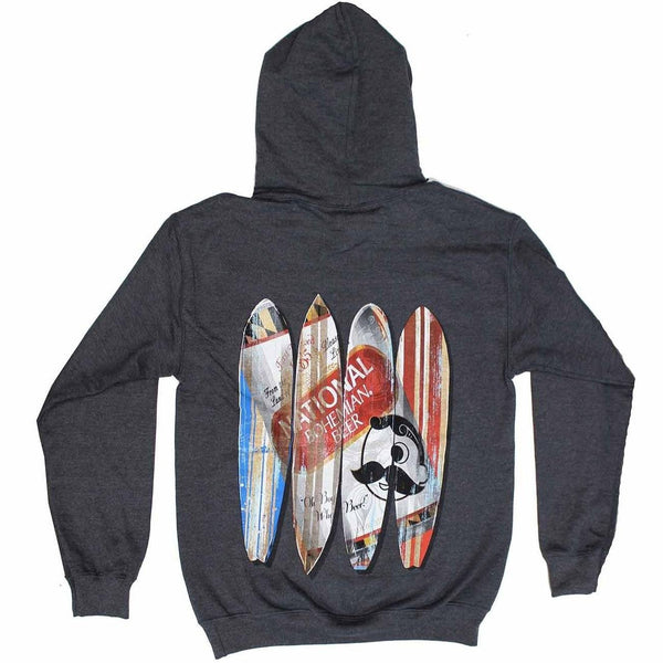 Natty Boh Can Surfboards (Dark Heather) / Hoodie