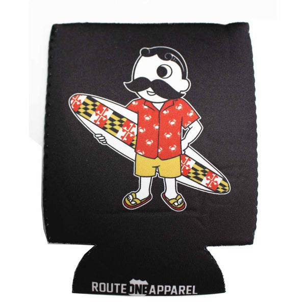 Natty Boh Surfer Dude (Black) / Koozie