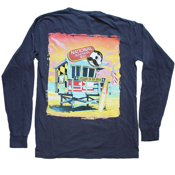 Natty Boh Lifeguard Stand (Navy) / Long Sleeve Shirt