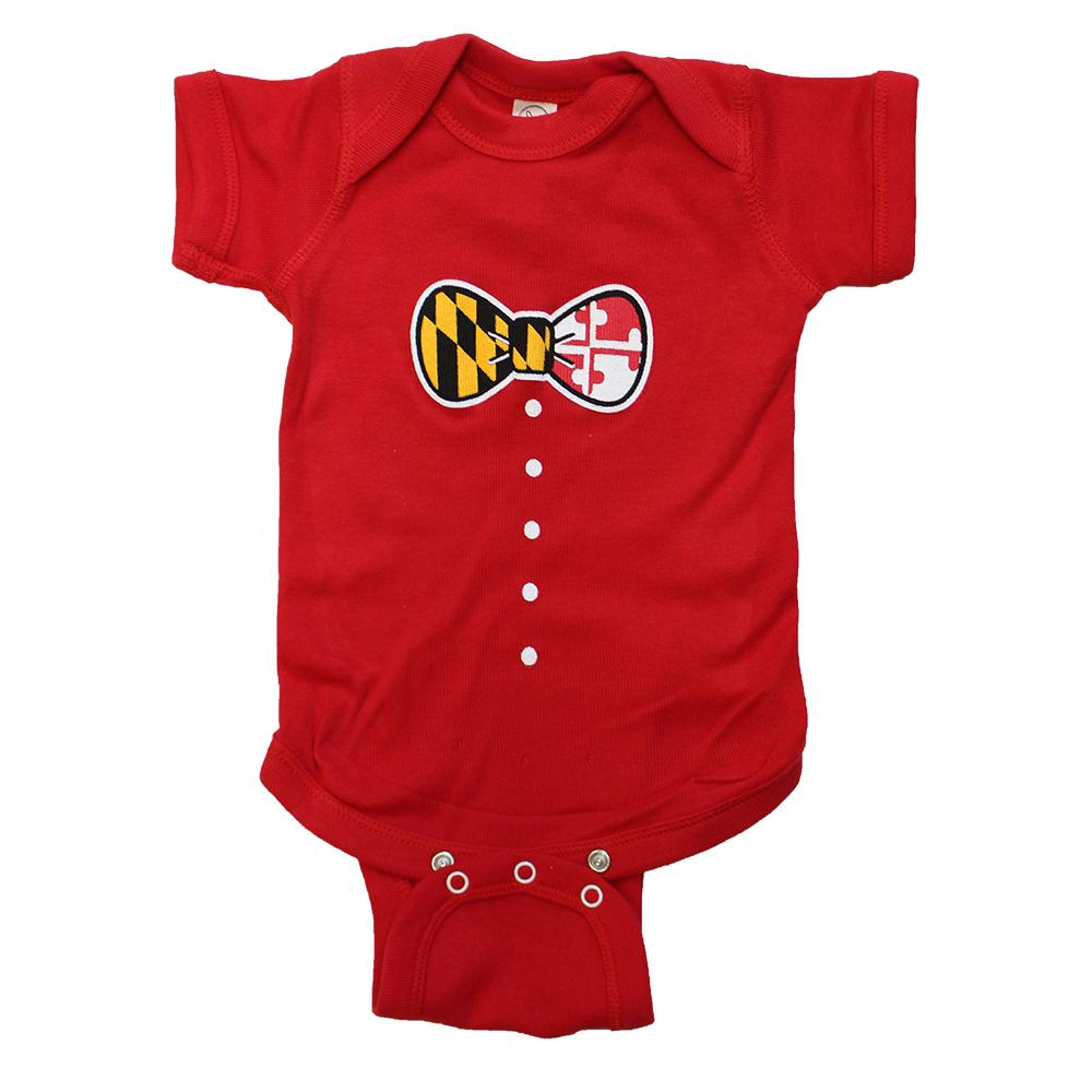 08891a963 Maryland Bow Tie (Red) / Baby Onesie – Route One Apparel