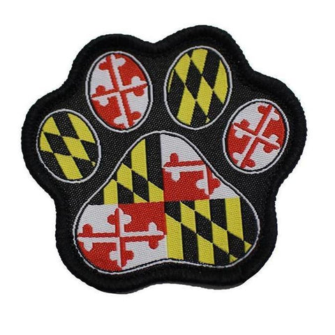 Maryland Paw Print / Patch
