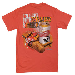 I'm Here for the Crabs & Beer (Bright Salmon) / Shirt