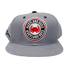 Maryland Born Maryland Bred (Grey) / Canvas Snapback Hat