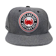 Maryland Born Maryland Bred (Grey) / Wool Snapback Hat