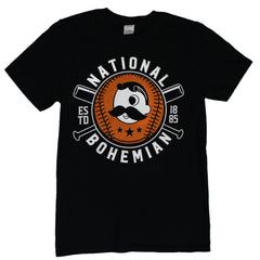 National Bohemian Baseball & Bat (Black) / Shirt