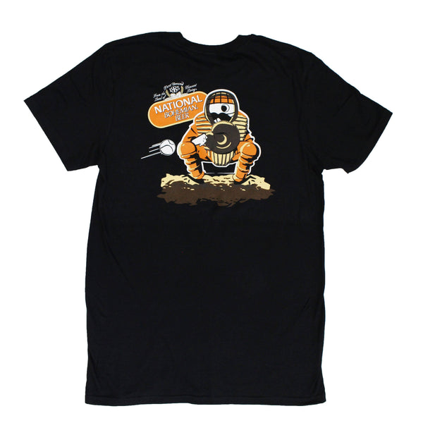 Natty Boh Baseball Catcher (Black) / Shirt