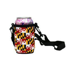 Maryland Flag / Koozie with Strap