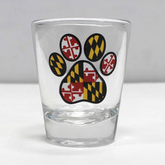 Maryland Paw Print / Shot Glass