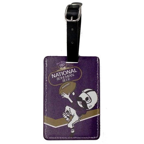 Natty Boh Football / Luggage Tag