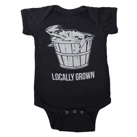 Locally Grown (Vintage Navy) / Baby Onesie
