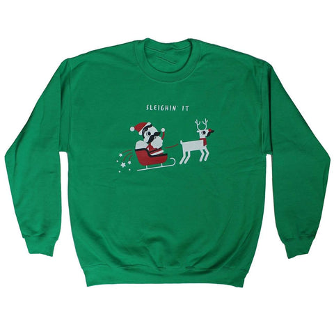 Sleighin' It (Irish Green) / Crew Sweatshirt