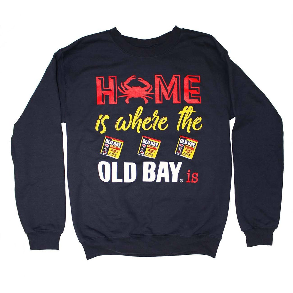 Home Is Where The Old Bay Is (Navy) / Crew Sweatshirt