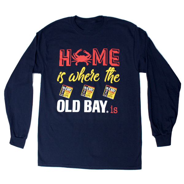 Home Is Where The Old Bay Is (Navy) / Long Sleeve Shirt