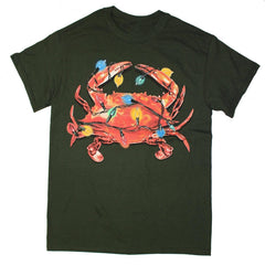Christmas Lights Crab (Green) / Shirt