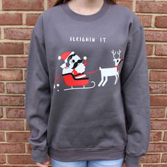 Sleighin' It (Charcoal Grey) / Crew Sweatshirt