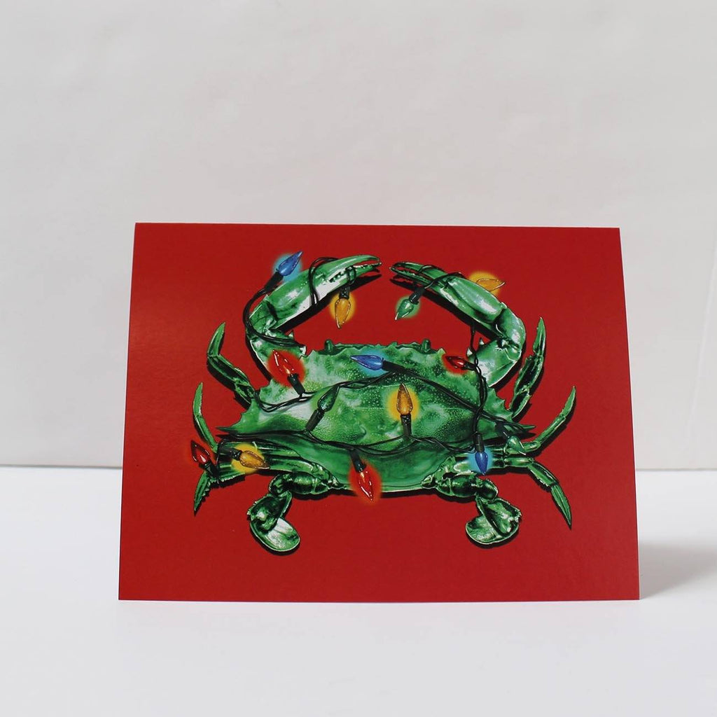 Christmas Crab Lights (Red) / Christmas Card