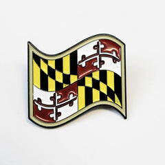 Waving Maryland Flag / Pin