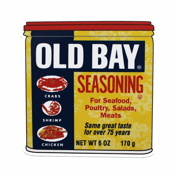 Floral Old Bay Can / Sticker