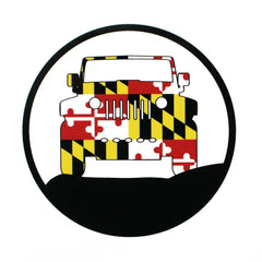 Off Road Vehicle with Maryland Flag / Sticker