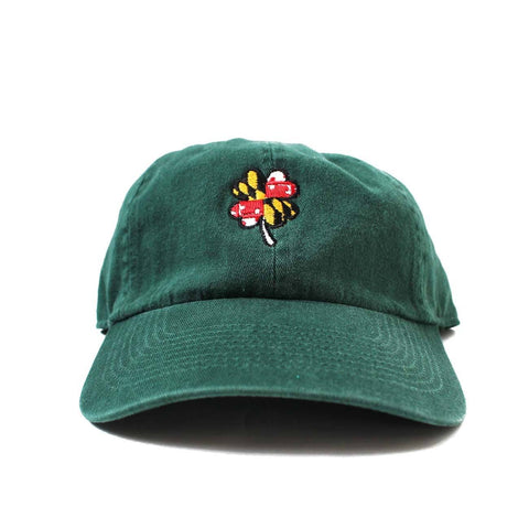 Maryland Flag 4-Leaf Clover (Green) / Baseball Hat