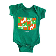 Irish Maryland Flag (Green) / Baby Onesie