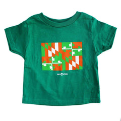 Irish Maryland Flag (Green) / *Toddler* Shirt
