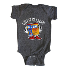 b4c4ed47b Cutest Crabcake (Granite Heather) / Baby Onesie