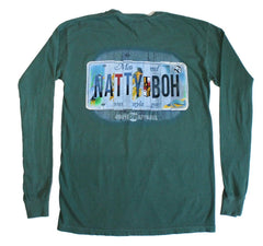 Natty Boh License Plate (Light Green) / Long Sleeve Shirt