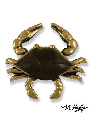 Blue Crab  (Brass) / Door Knocker - Route One Apparel