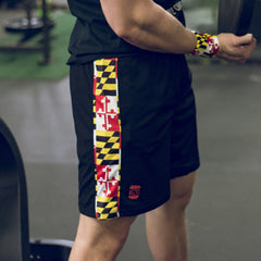 Maryland Flag (Black) / Running Shorts (Men)