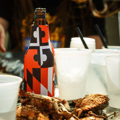 Maryland Flag Black & Orange / Bottle Koozie